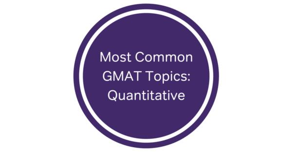 GMAT math question types & quant questions