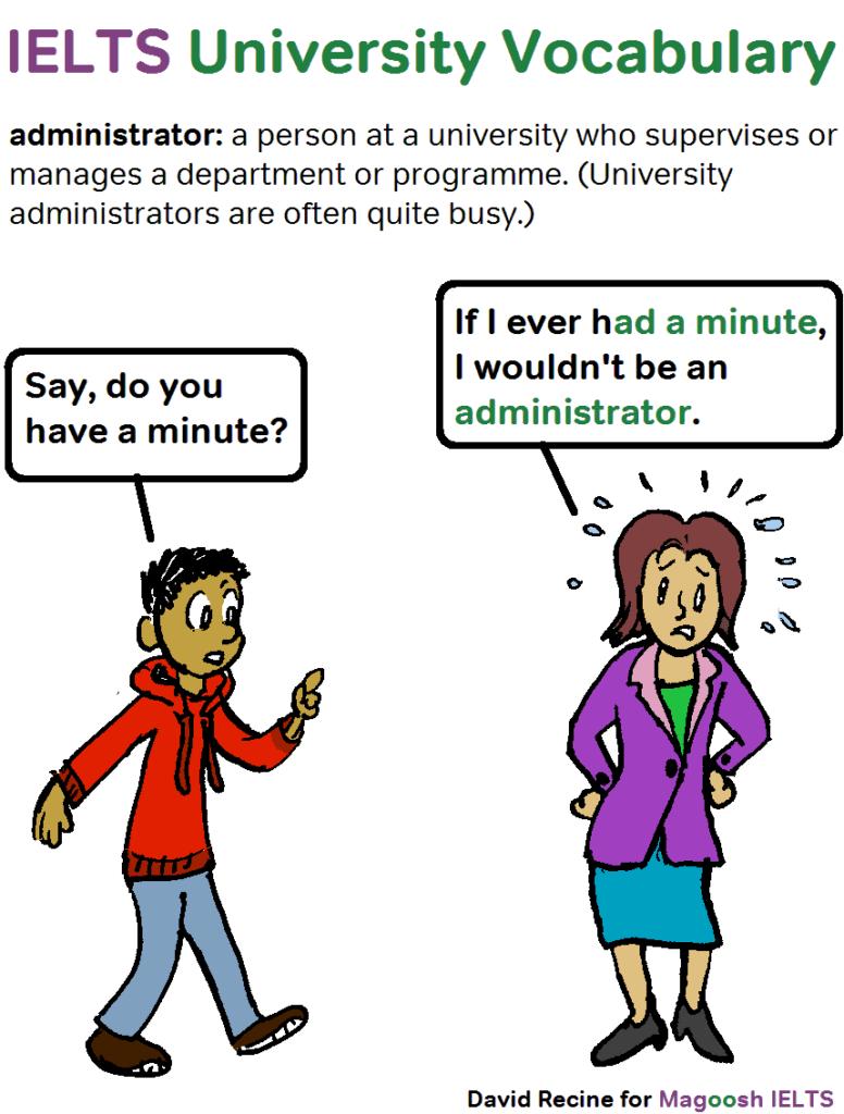 IELTS university vocabulary comics 8