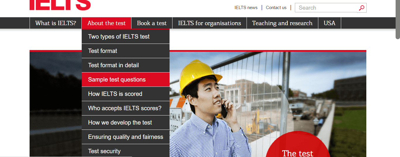 how to use the four official IELTS websites