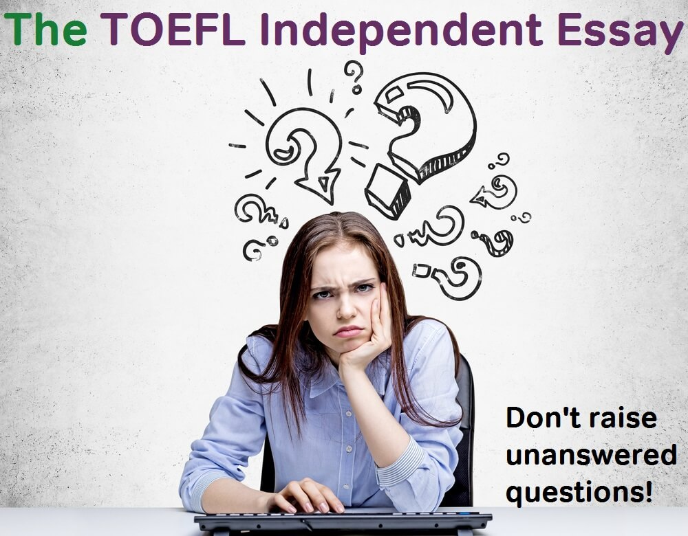 toefl independent essay introduction Source-based tasks in writing independent and integrated essays javad gholami urmia university, iran, jgholami@urmiaacir introduction recently, new in toefl ibt, independent writing tasks are defined as responding to a prompt or a.