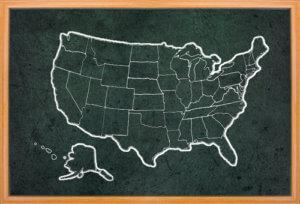 average starting teacher salary by state