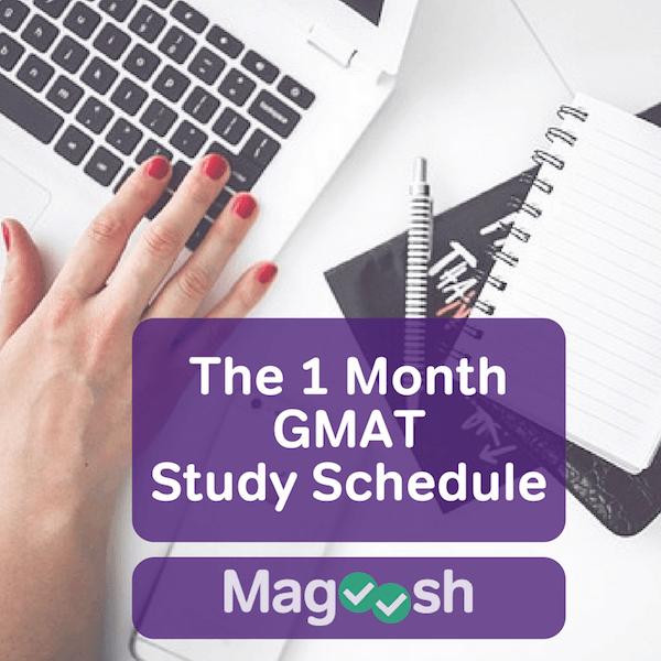 GMAT schedule