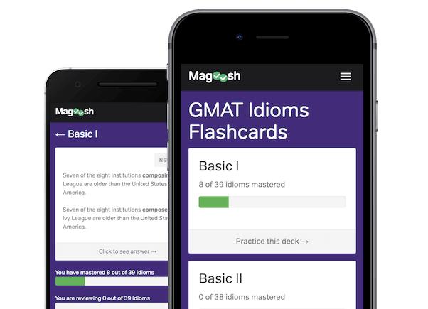 magoosh gmat idioms flashcards