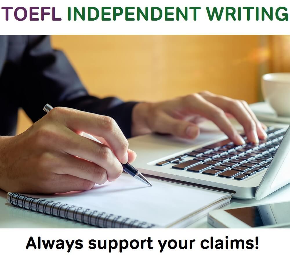 toefl independent writing tips