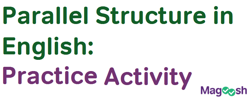 practice parallel structure in English